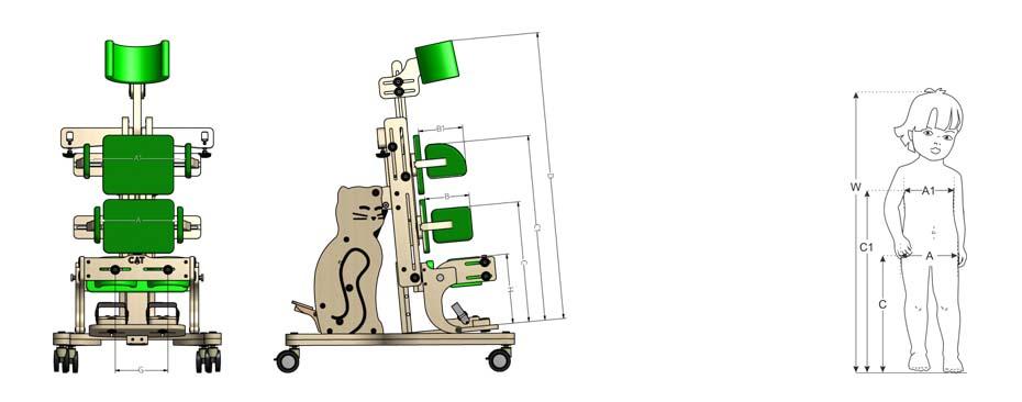 Подбор размера вертикализатора Котенок 2