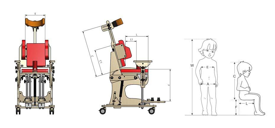 Подбор размера реабилитационного кресла Зебра Инвенто